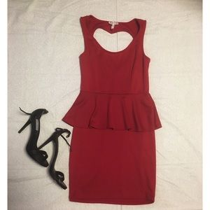 Heart back red dress